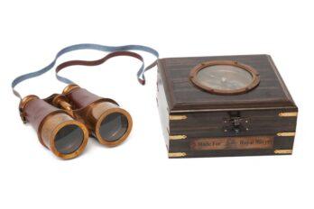 Бинокль в деревянной подарочной коробке с компасом и латунным декором Secret De Maison( mod. 48366 )