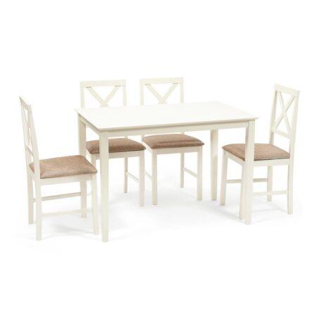 Обеденный комплект эконом Хадсон (стол + 4 стула)/ Hudson Dining Set